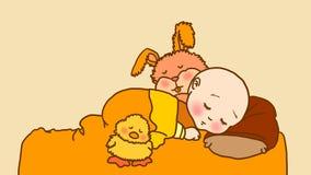 El dormir de los bebés Imagen de archivo libre de regalías