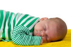 El dormir del bebé Fotos de archivo libres de regalías