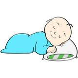 El dormir del bebé stock de ilustración