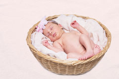 el dormir del bebé Fotografía de archivo libre de regalías