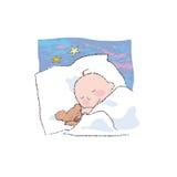 El dormir del bebé Foto de archivo libre de regalías