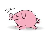 El dormir del cerdo stock de ilustración