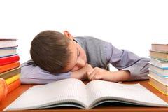 El dormir del colegial Imagenes de archivo