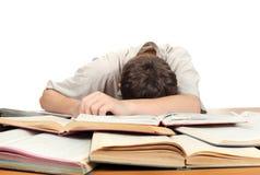 El dormir del estudiante Imagen de archivo libre de regalías