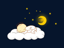 El dormir del ángel Imagen de archivo libre de regalías