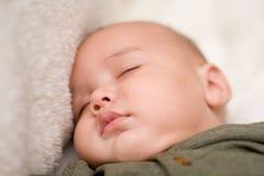 El dormir dulce del bebé Imágenes de archivo libres de regalías