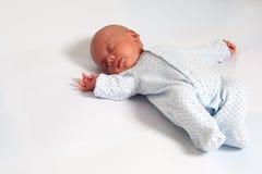 El dormir dulce del bebé Foto de archivo libre de regalías