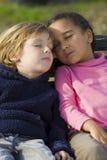 El dormir en el jardín Fotografía de archivo