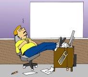 El dormir en el trabajo libre illustration