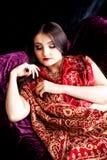 El dormir indio hermoso de la mujer Fotografía de archivo libre de regalías