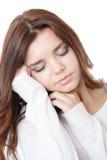 El dormir joven de la hembra Imagen de archivo libre de regalías