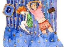 El dormir junto Imagen de archivo libre de regalías