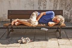El dormir libremente Fotografía de archivo