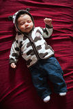 El dormir lindo del bebé imágenes de archivo libres de regalías