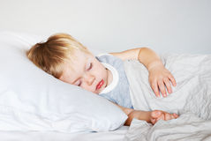 El dormir Little Boy Fotografía de archivo libre de regalías