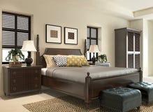El dormitorio rinde ilustración del vector