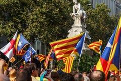El Dr. de manifestación independence de la gente en Cataluña Fotos de archivo