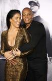 El Dr. Dre y Nicole Young Imagen de archivo