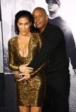 El Dr. Dre y Nicole Young Imagen de archivo libre de regalías