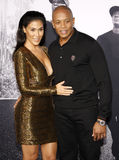 El Dr. Dre y Nicole Young Fotografía de archivo