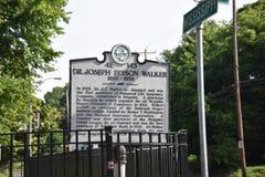 El Dr. Joseph Edison Walker Historical Marker, Memphis, TN imagen de archivo libre de regalías