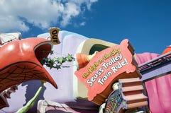 El Dr. ¡Paseo del tren de la carretilla de Seuss! fotografía de archivo
