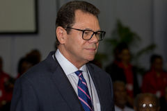 El Dr. Warren Smith, banco del Caribe del presidente desarrollo fotos de archivo libres de regalías
