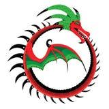 El dragón acortado en un anillo Fotos de archivo