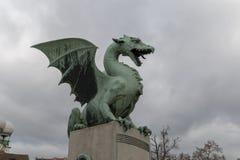 El dragón en Lubiana Imágenes de archivo libres de regalías