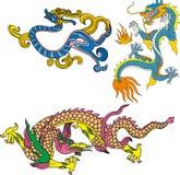El dragón fijó dieciséis Imagen de archivo libre de regalías