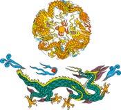 El dragón fijó seises Fotografía de archivo