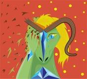 El dragón herido la muchacha Fotografía de archivo
