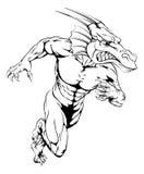 El dragón se divierte el funcionamiento de la mascota Foto de archivo libre de regalías
