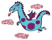 El dragón vuela en las nubes Fotos de archivo