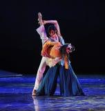 El drama de la danza del ballet- del mundo de los artes marciales la leyenda de los héroes del cóndor Fotos de archivo libres de regalías
