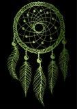 El dreamcatcher verde Fotografía de archivo