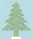 El duende de Santa que hace el árbol de navidad Foto de archivo