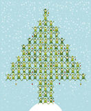 El duende de Santa que hace el árbol de navidad Fotos de archivo libres de regalías