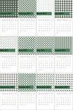 El duende y el gris fusco colorearon el calendario geométrico 2016 de los modelos Stock de ilustración