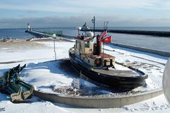 El Duluth, entrada de puerto del manganeso Foto de archivo libre de regalías
