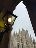 El duomo en Milán, Italia Imagen de archivo