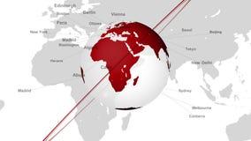 El Earth_049 rojo stock de ilustración