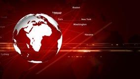 El Earth_052 rojo stock de ilustración