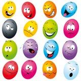 El eatser del color eggs la historieta Imágenes de archivo libres de regalías