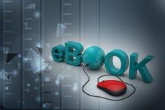 El eBook de la palabra conectó con un ratón del ordenador libre illustration