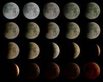 El eclipse de la luna, mosaico Fotografía de archivo libre de regalías