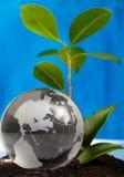 El eco del concepto del globo Imagen de archivo
