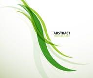 El eco verde alinea el fondo abstracto Foto de archivo