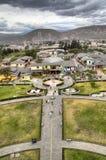 El ecuador en Mitad del Mundo Fotos de archivo