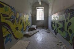 El edificio abandonado del hospital llamó Mombello Foto de archivo